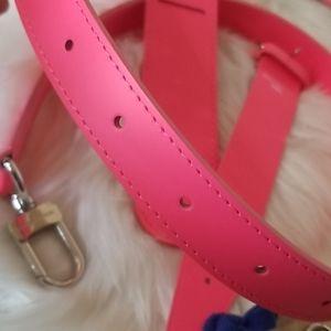 Louis Vuitton Bags - NEW UNUSED LOUIS VUITTON PINK KEEPALL STRAP SET